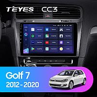 Автомагнитола Teyes CC3 4GB/64GB для Volkswagen Golf 7 2012-2020, фото 1
