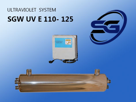 УФ установка обеззараживания воды SGW UV ES -125 PRO ( произв-ть 25 м3/час)