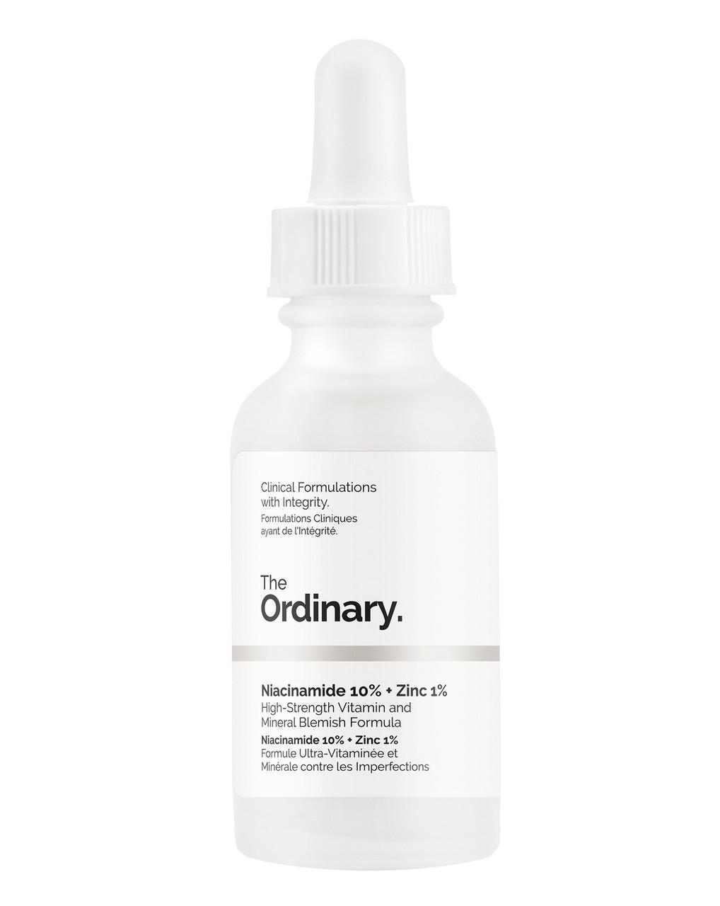 Сыворотка с витамином В3 и цинком [THE ORDINARY] Niacinamide 10% + Zinc 1%, 30мл