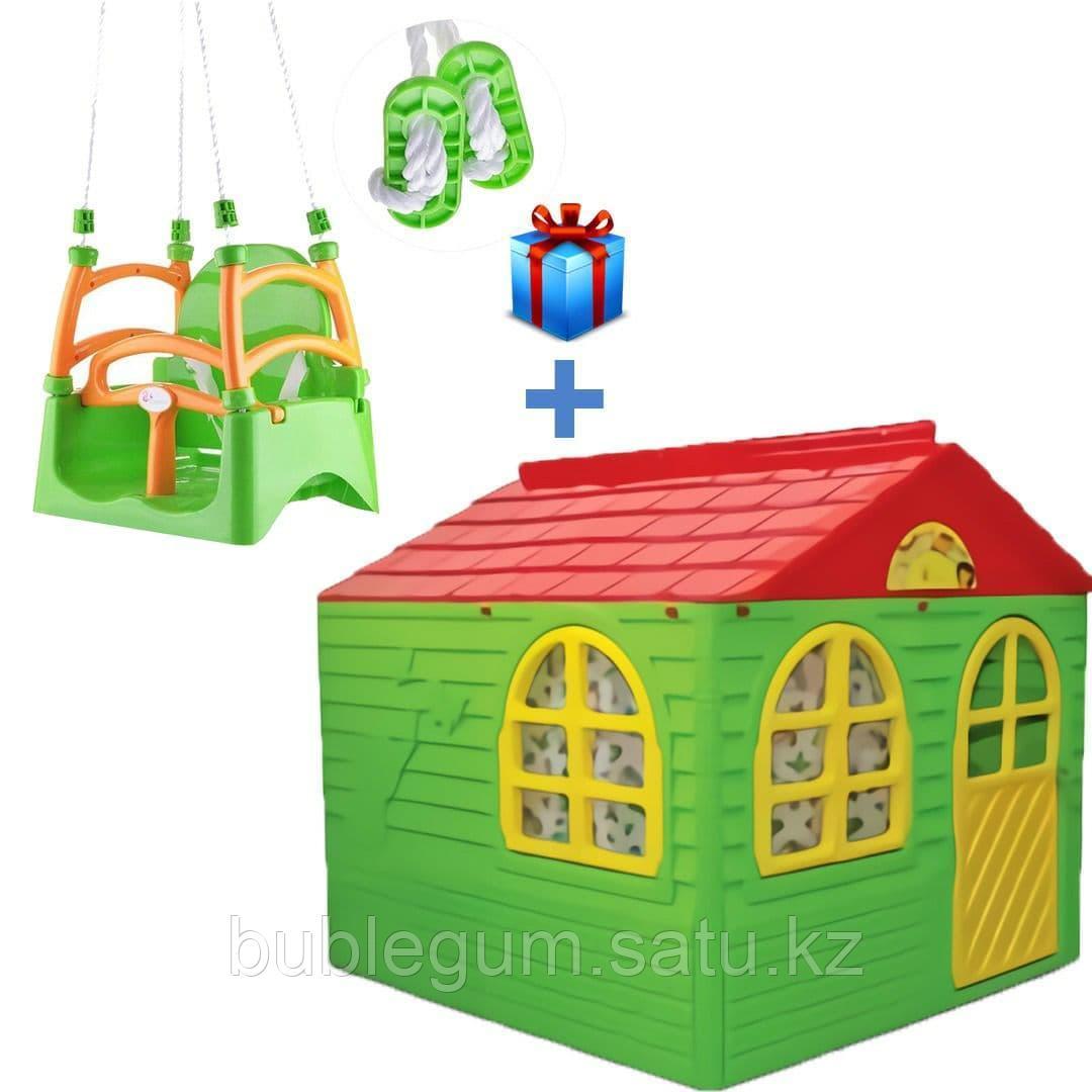 Игровой домик ТМ Doloni с занавесками+ качели в подарок