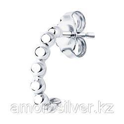 Серьга SOKOLOV серебро с родием, без вставок 94170134