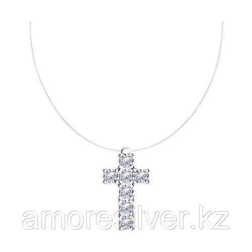 Колье SOKOLOV серебро с родием, фианит  94070452 размеры - 38 40