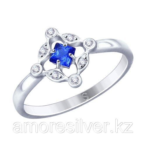 Кольцо SOKOLOV серебро с родием, фианит  94012806