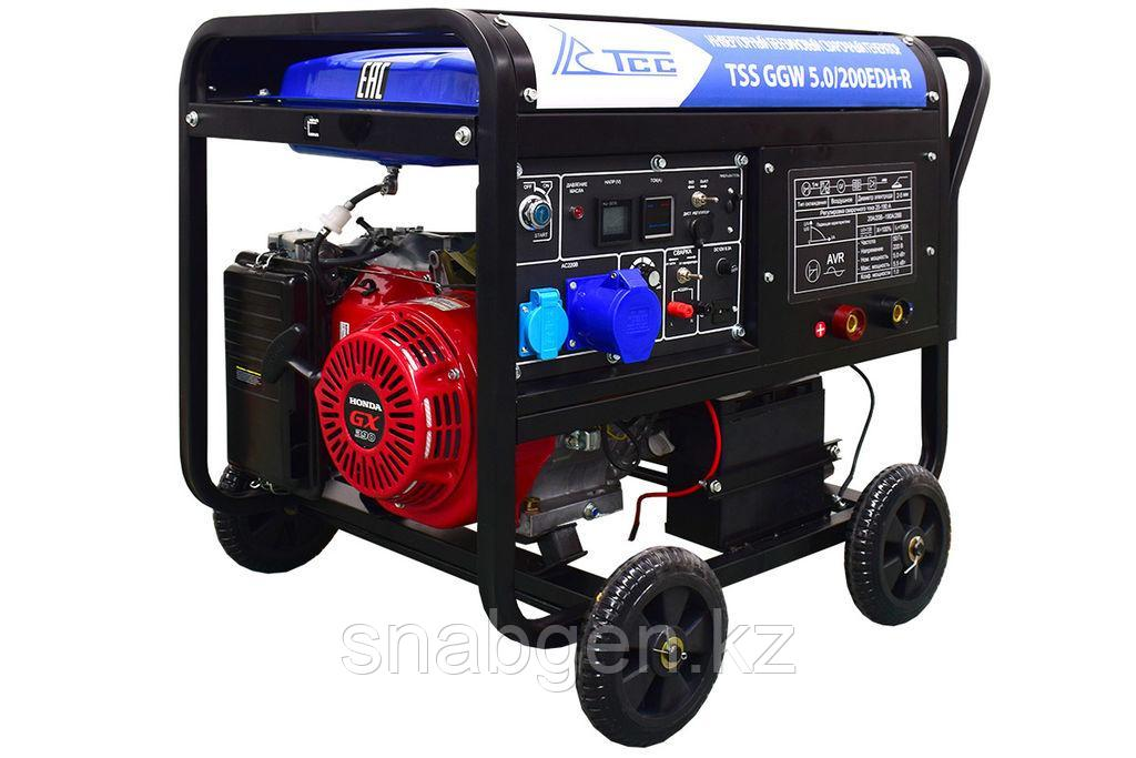 Инверторный бензиновый сварочный генератор TSS GGW 5.0/200EDH-R (Honda GX39
