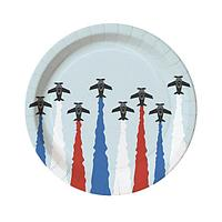 "Тарелка d 230мм, дизайн ""Самолеты"", картон, 6 шт"