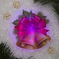 """Световая картинка на присоске """"Колокольчик""""(батарейки в комплекте), оптоволокно, 1 LED, RGB"""