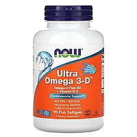 Ультра Омега 3-Д от NOW Foods 900 мг. 90 капс.