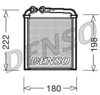 Радиатор отопителя DENSO VW Passat  VI (3C5) 2.0 FSI [BLR; BLY; BVY; BVZ] 150 л.с. Бензиновый 2005 - 2010