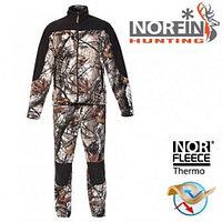 Костюм флисовый для охоты и рыбалки Norfin HUNTING-FOREST CAMO, размер XL