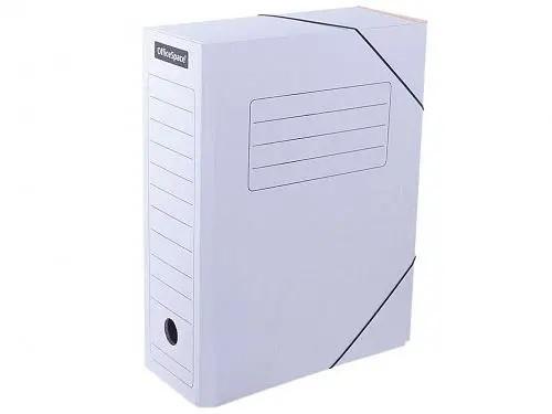 Архивный короб OfficeSpace на резинках (235x100x325 мм, микрогофрокартон, белый)