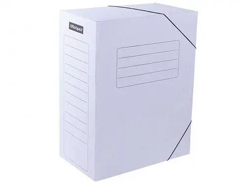 Архивный короб OfficeSpace на резинках (235x150x325 мм, микрогофрокартон, белый)