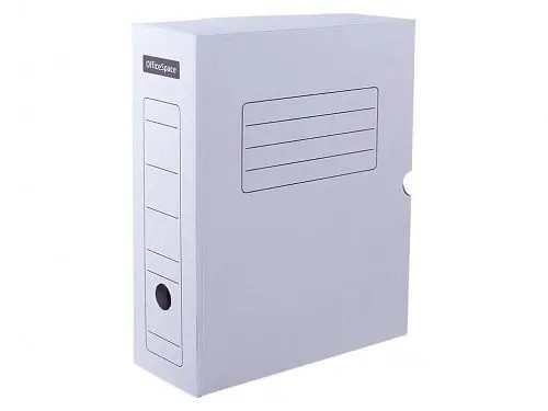 Архивный короб OfficeSpace с клапаном (250x150x325 мм, микрогофрокартон, белый)
