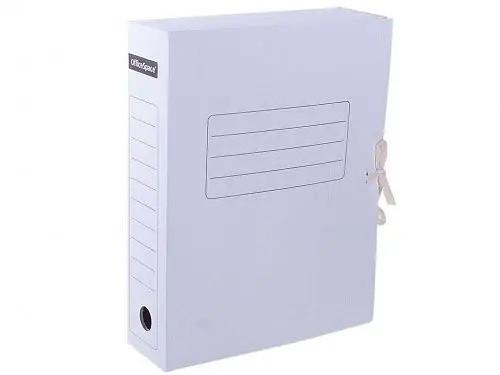 Архивный короб OfficeSpace на завязках (250x75x320 мм, микрогофрокартон, белый)