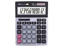 """Калькулятор настольный DELI """"1671"""" (12 разрядный, Gray)"""