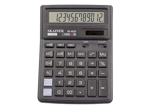 """Калькулятор настольный SKAINER """"482II"""" (12 разрядный, Black)"""