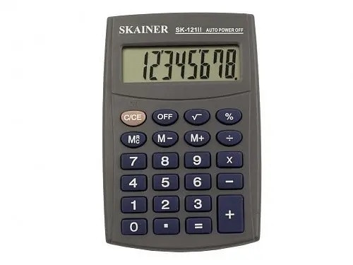 "Калькулятор карманный SKAINER ""121II"" (8-разрядный)"