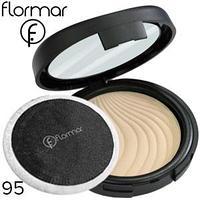 FLORMAR пудра компактная Compact Powder Тон 95 light porcelain beige