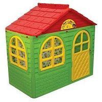Doloni Домик детский игровой прямоугольный красный/зеленый