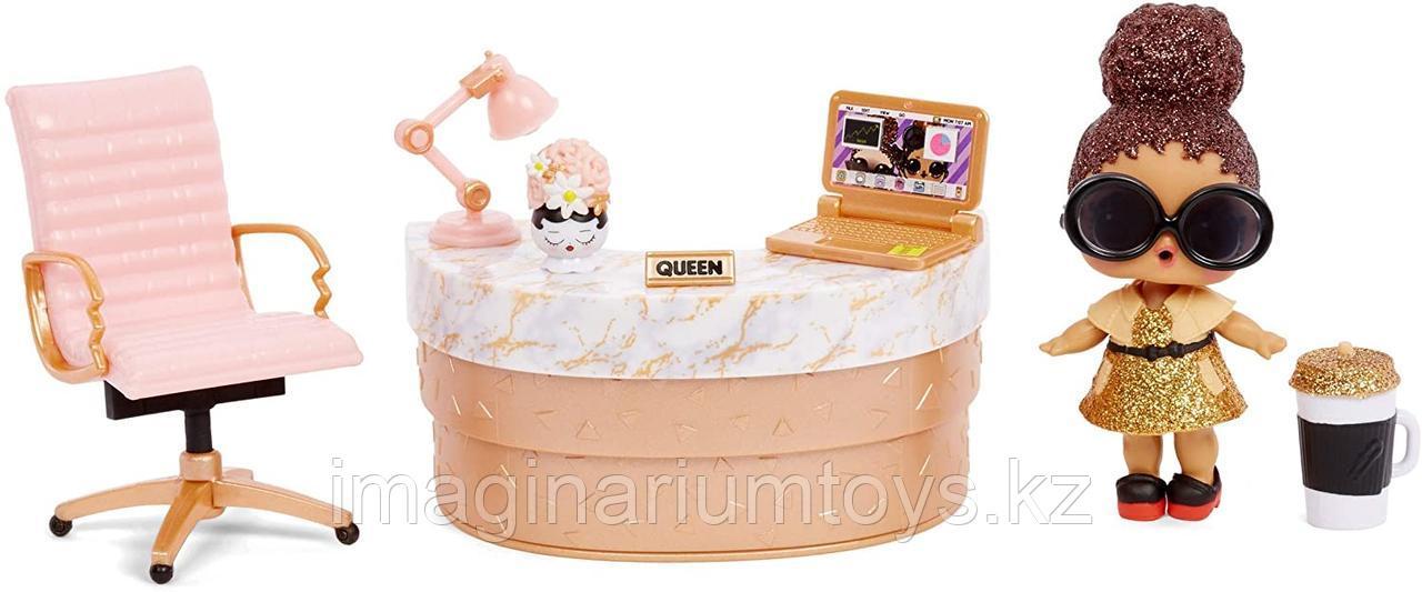 LOL Furniture игровой набор Офис школы с мебелью и куклой Boss Queen