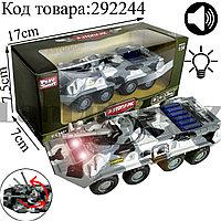 Игрушка детская машинка БТР Омон металлическая со свето-звуковым сопровождением Die Cast Metal
