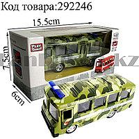 Игрушка детская машинка Автобус Вооруженные силы металлическая Die Cast Metal