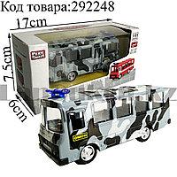 Игрушка детская машинка Автобус ОМОН металлическая Die Cast Metal