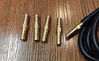 Штуцер-соединение елочка 6мм (металл) для гибких шлангов и т.д.