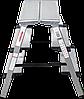 Стремянка двухсторонняя алюминиевая, широкая ступень 130 мм NV100, 3 ступени, фото 3