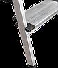 Стремянка двухсторонняя алюминиевая, широкая ступень 130 мм NV100, 3 ступени, фото 4