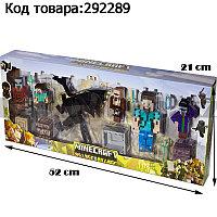 """Набор фигурок игровой для детей из серии Майнкрафт """"Minecraft"""" с полноразмерным драконом и Стивом 15 штук"""