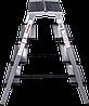 Стремянка двухсторонняя алюминиевая, широкая ступень 130 мм NV100, 4 ступени, фото 2