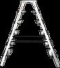 Стремянка двухсторонняя алюминиевая, широкая ступень 130 мм NV100, 6 ступеней, фото 2