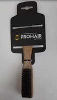 Щетка ProHair для фейдинга деревянная, 5 рядов, с натуральной щетиной