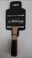 Щетка ProHair для фейдинга деревянная, 5 рядов, с исскуственной щетиной