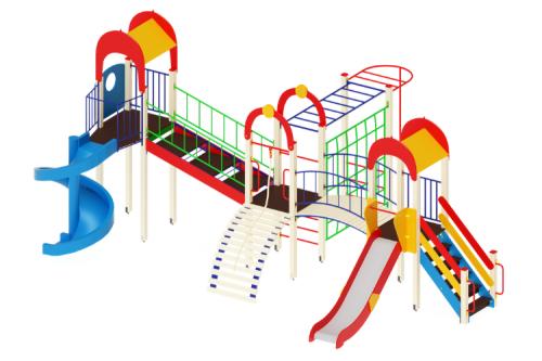 Детский игровой комплекс «Дворик детства» H=1200, 2000