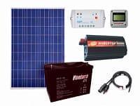 Комплектация солнечной электростанции, суммарной мощностью 150 Вт, 12В