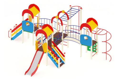 Детский игровой комплекс «Дворик детства» H=1200