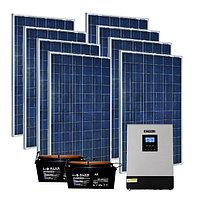 Комплектация солнечной электростанции, суммарной мощностью 2 кВт, 220В