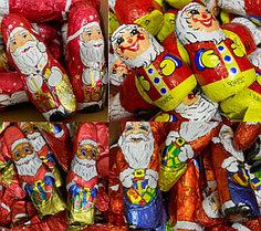 Дед мороз фигурки Санта Клаус Santa (в ассортименте разные виды на вес) 1 кг