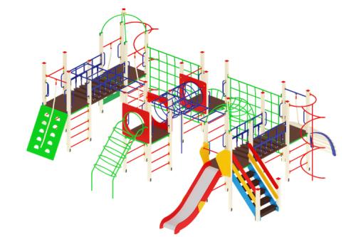 Детский игровой комплекс «Остров детства» H=1200