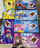 Шоколадные батончики Hello Kity, Тачки, Смурфики, Пеппа, TOM (ассорти вкусов мульт герои)
