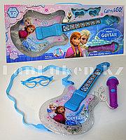 """Музыкальный набор """"Холодное сердце"""" гитара, микрофон, очки, ремешок №8985"""