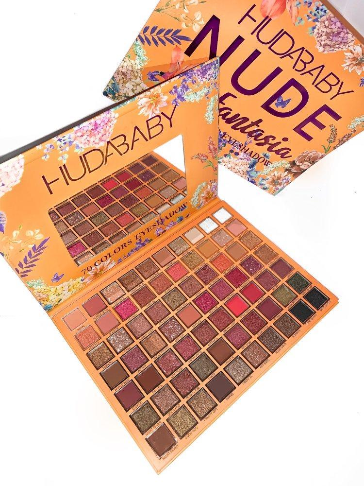 Палетка теней для век Huda Baby Nude Fantasia 70 Colors Eyeshadow