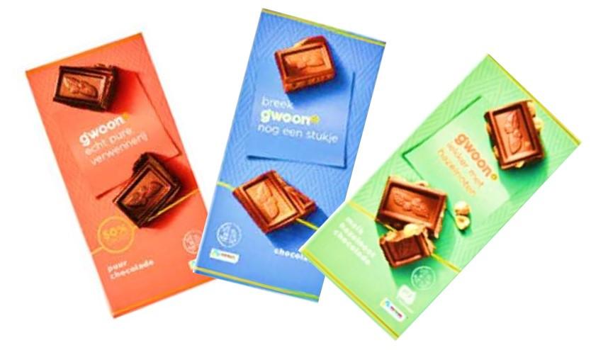 Шоколад G'woon Chocolate разные вкусы (Германия)