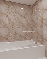 Стеклянная шторка на ванну прозрачная КС-100В