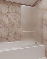 Стеклянная шторка на ванну матовая КС-100В
