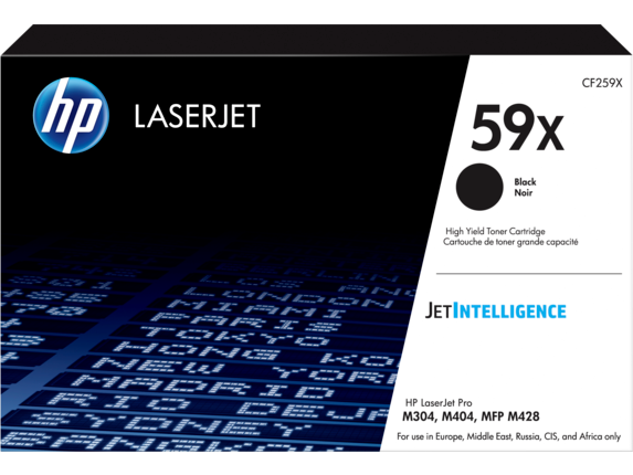 HP CF259X 59X Black LaserJet Toner Cartridge for LaserJet M404/M428, up to 10000 pages
