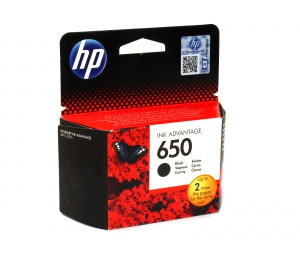 HP CZ101AE Black Ink Cartridge №650 for Deskjet Ink Advantage 2515, up to 360 pages.