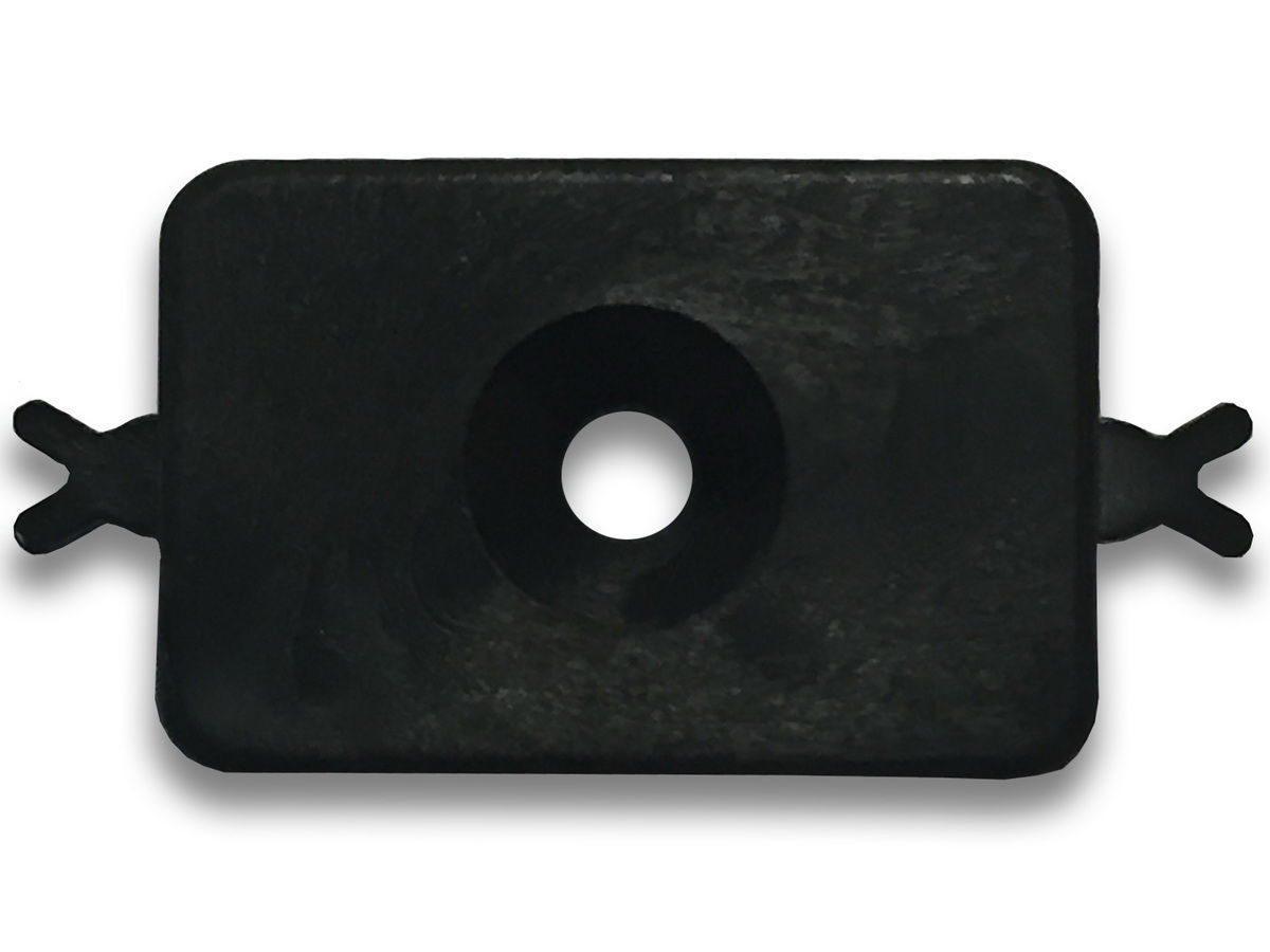 Промежуточный пластиковый стандартный кляймер для досок: Olimpiya, Deckron, Holzhof, Ecodeck, Darvolex.