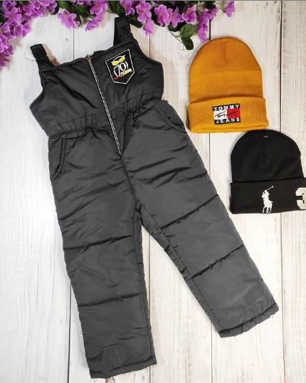 Зимние штаны на лямках